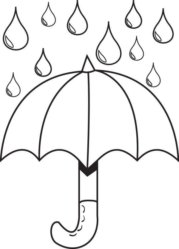 raindrop coloring page # 8