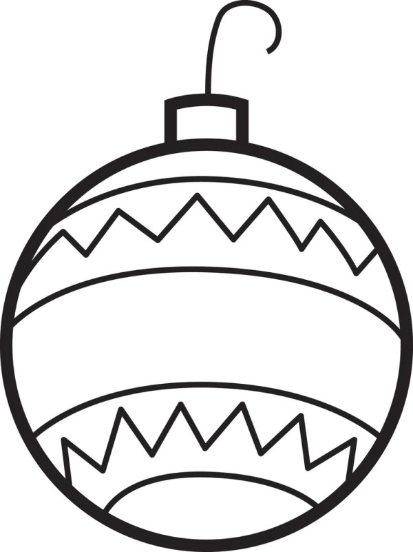 christmas ornament coloring page # 2
