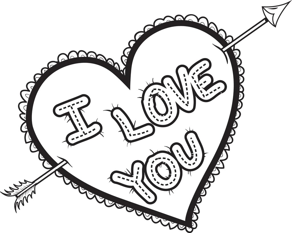 Printable i love you heart coloring page kids supplyme, coloring pages say i love you