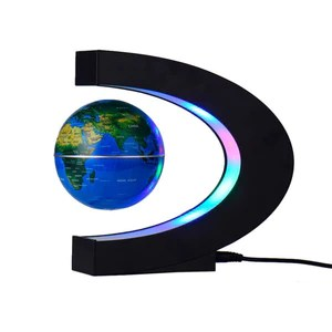 C Shape Floating Globe World Map LED Light     GoAmiroo Store C Shape Floating Globe World Map Led Light   Goamiroo Store