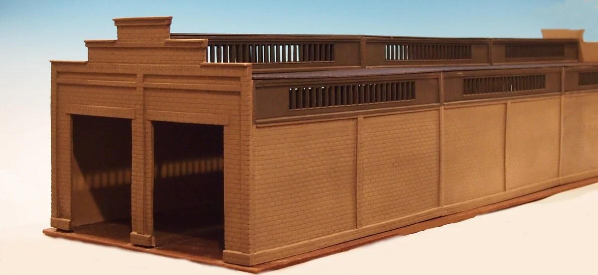 306a O Scale Diesel Shed Extension Kit Korber Models