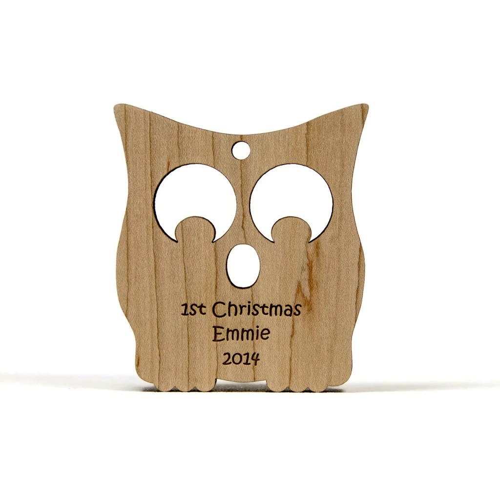 Baby Christmas Ornaments Wooden