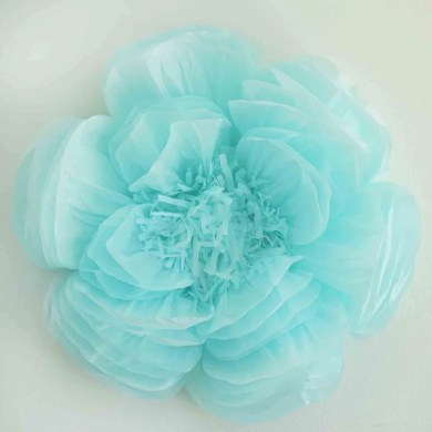 Paper Flower   Wholesale Craft Flowers   eFavormart 2 Pack 20  Blue Giant Bloomed Peony Paper Flower