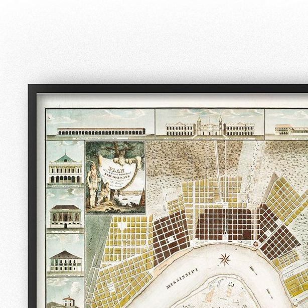HD Decor Images » Vintage New Orleans Map Art Printable     Chaos   Wonder Design vintage map of the city of new orleans 19th century