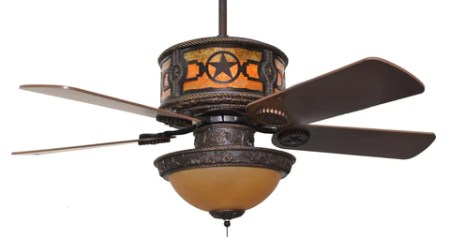 CC KVSHR BRZ STARS LK420   Stars  Western Ceiling Fan with Light Kit         Fan with Light Kit   CC KVSHR BRZ STARS LK420   Stars  Western Ceiling