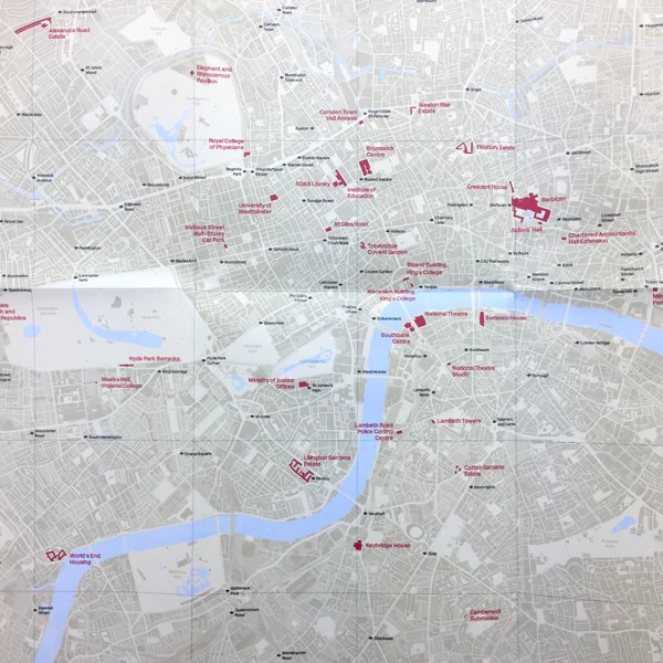 Brutalist London Map     Counter Print     Brutalist London Map