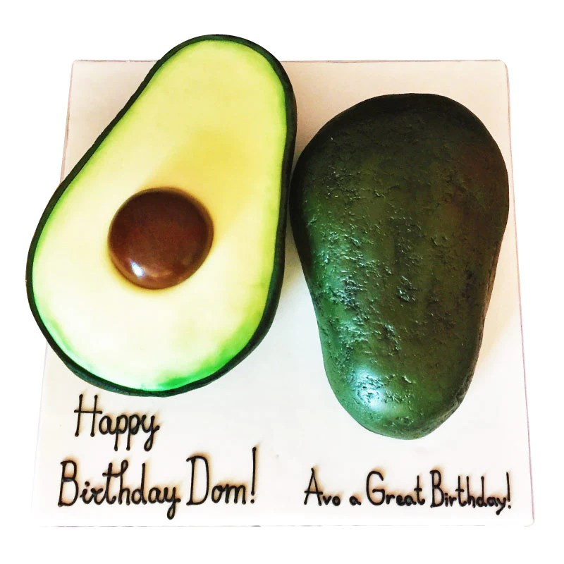 Avocado Birthday Cake Buy Online Free Uk Delivery New