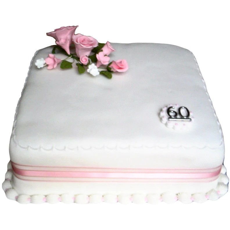Diamond Wedding Anniversary Cake   Buy Online  Free UK Delivery     Diamond Wedding Anniversary Cake   Last minute cakes delivered tomorrow