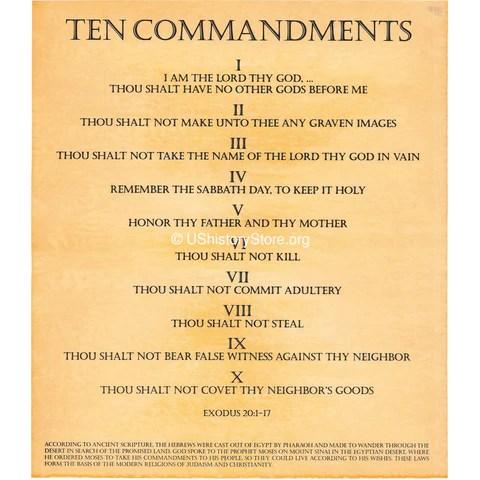 10 commandments # 5
