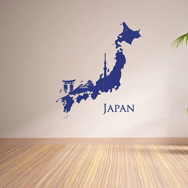 Japan Map Wall Decal     Style and Apply Japan Map Wall Decal Wall Decals Style and Apply