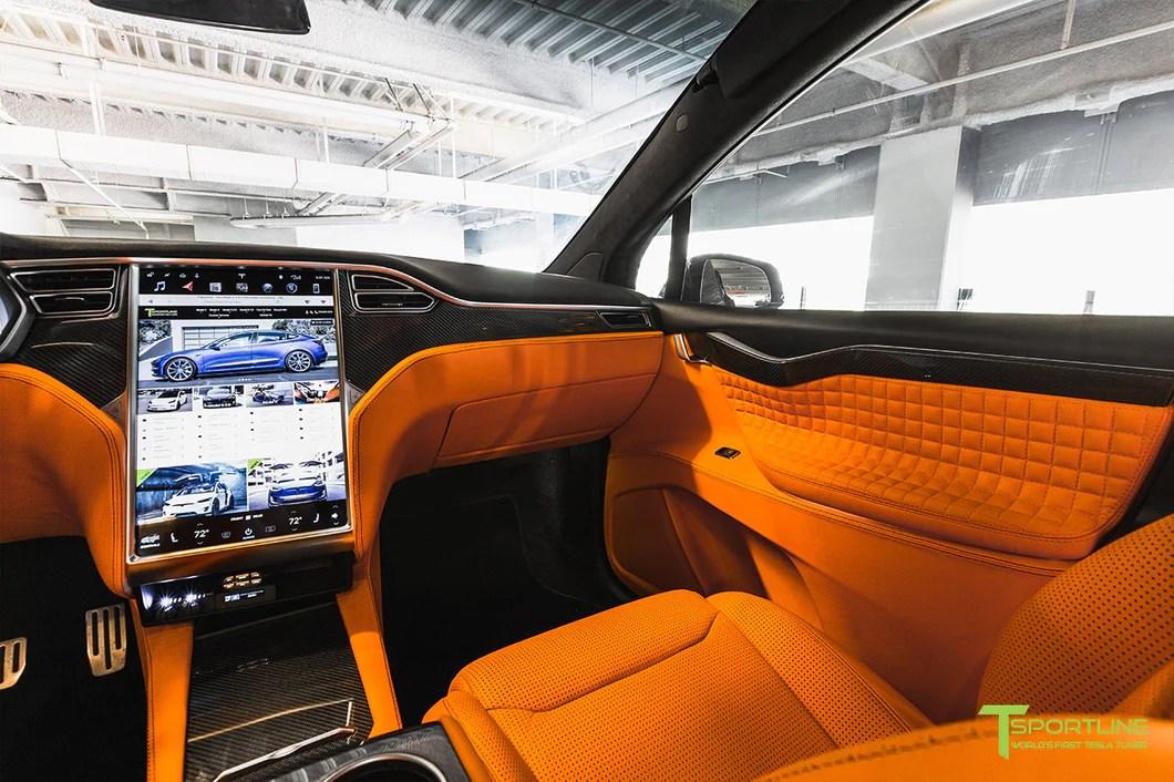 Tesla White Interior