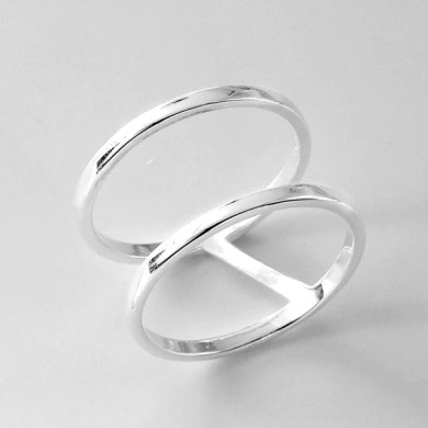 Sterling Silver Double Band Ring Wholesale   SilverLots Sterling Silver Double Band Ring