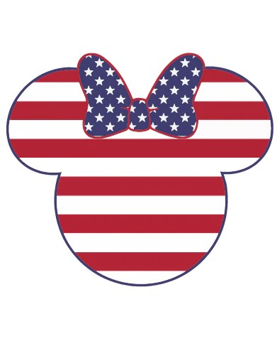 Instant Download Mickey And Minnie Mouse Avericana Svg Eps