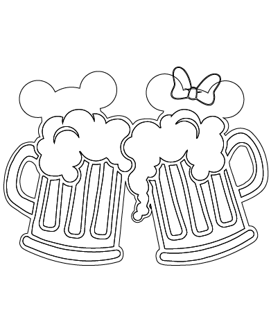 Instant Download Mickey And Minnie Mouse Beer Mugs Svg Eps