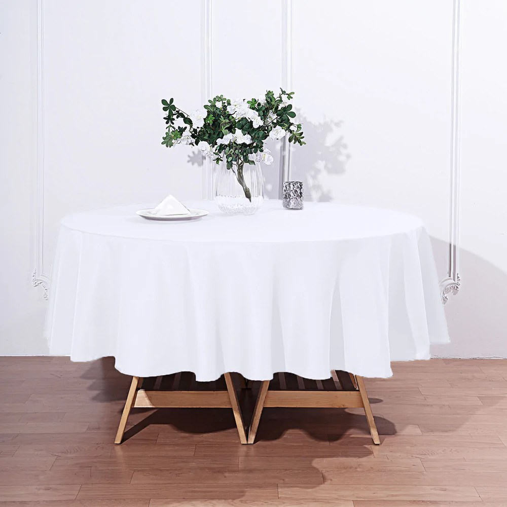 Polyester Tablecloths White Dots