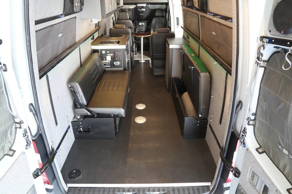 58 Quot Rear Dinette Bed Setup For 07 Sprinter Vans Black