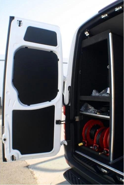 2007 2018 Sprinter Van Rear Door Panel Kit 3 Pc Black