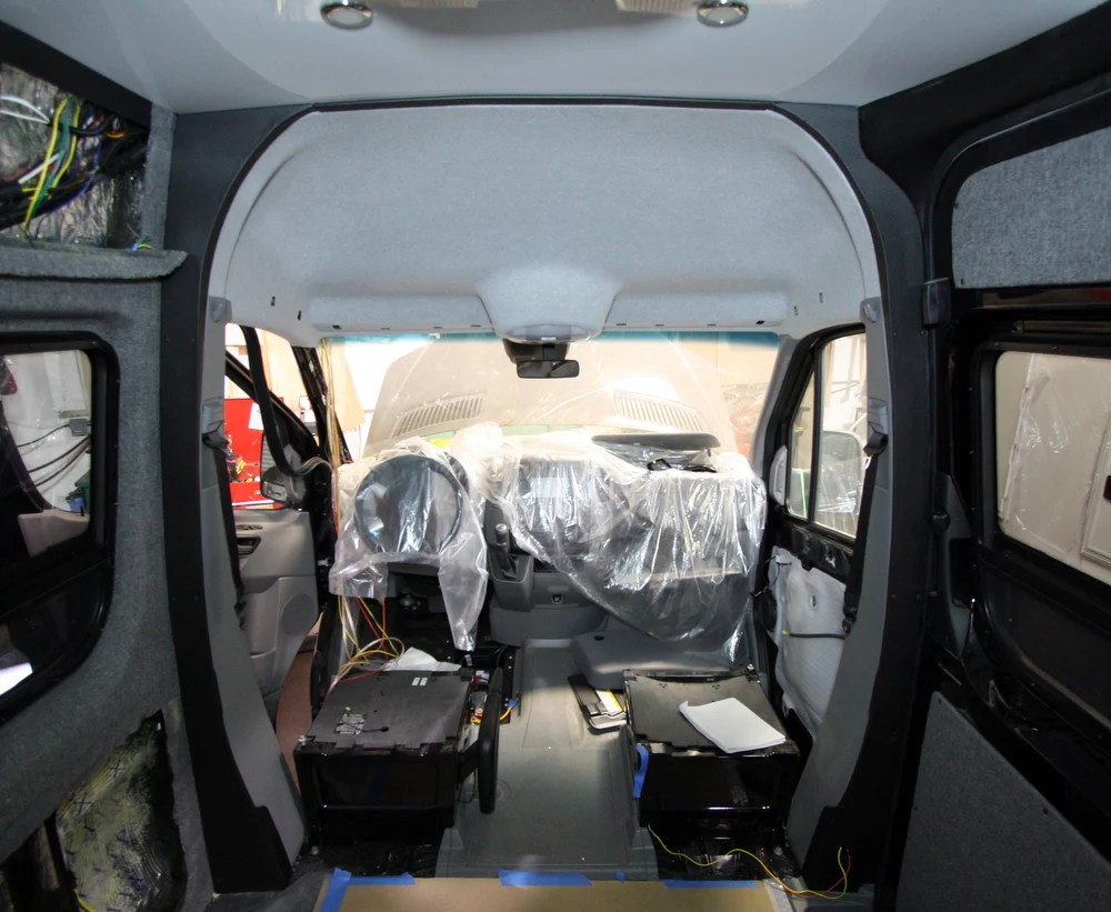 2007 2018 Sprinter Van B Pillar Trim Kit Carbon Fiber