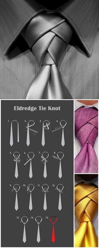 How To Tie A Necktie Knot - Designer, Silk Neckties – Enso ...