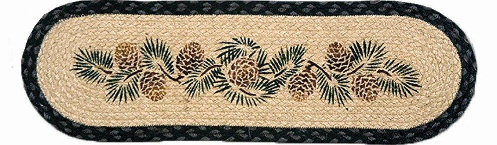 Stair Tread By Capitol Earth Rugs 7 Designs – Montana Gift Corral | Earth Rugs Stair Treads | Natural Jute | Burgundy Mustard | Non Slip | Area Rugs | Mats Rugs