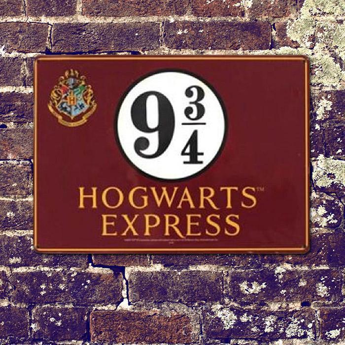 9 ¾ Hogwarts Express Sign - Harry Potter   9 ¾ Train ...