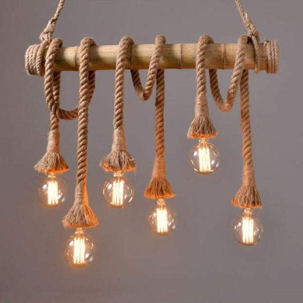 pendant lighting with rope # 9