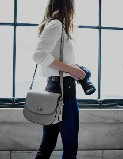 Women's Leather Camera Bag - The Claremont - Lo & Sons