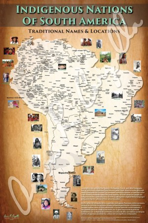 Indigenous Nations of South America Map  Native and Common Names     Indigenous Nations of South America Map  Native and Common Names