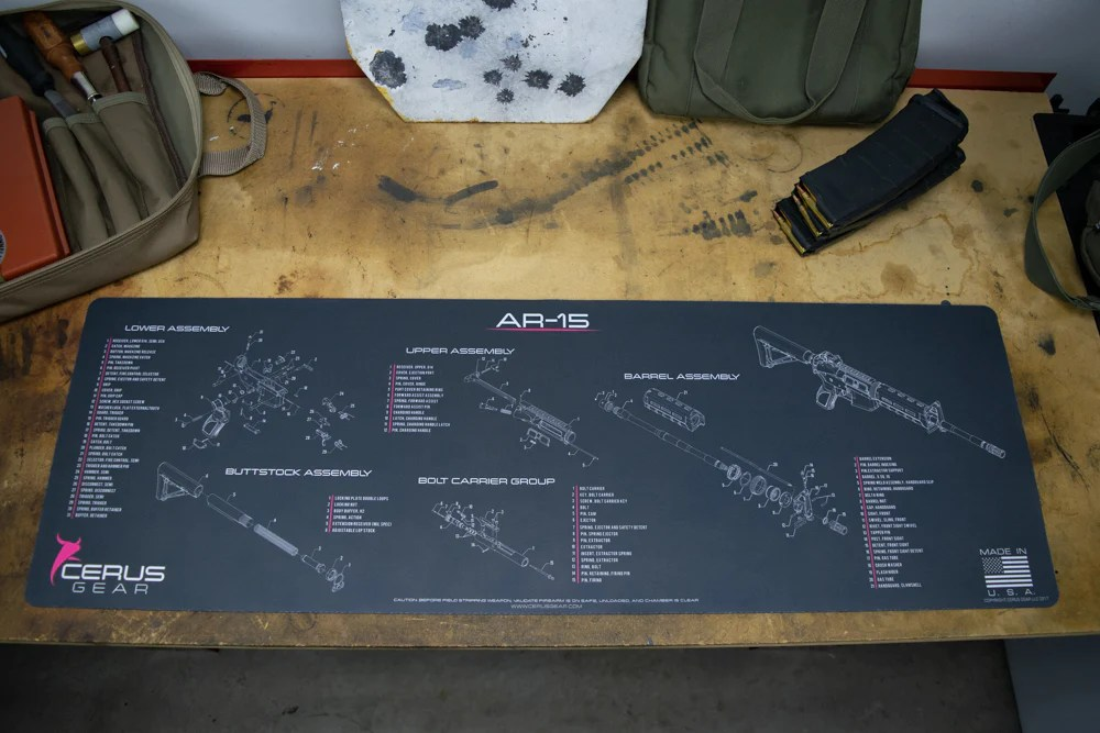 Ar 15 Schematic Promat Professional Grade Cleaning Mat