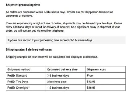 Shipping and delivery policy template sample shipping policy shipping policy template images template design free download maxwellsz