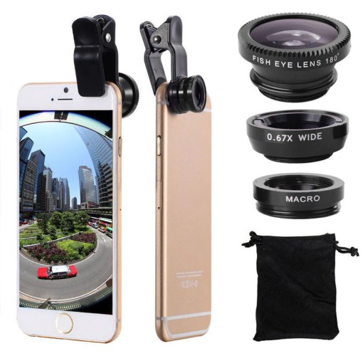 Gadgets   Phone Accessories   AWESURF Gadgets   Phone Accessories   3 in 1  Super Wide Angle  Macro   Fish Eye  Lens