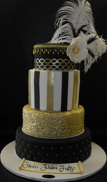 Great Gatsby Cake 4 Tier B0091 Circo S Pastry Shop