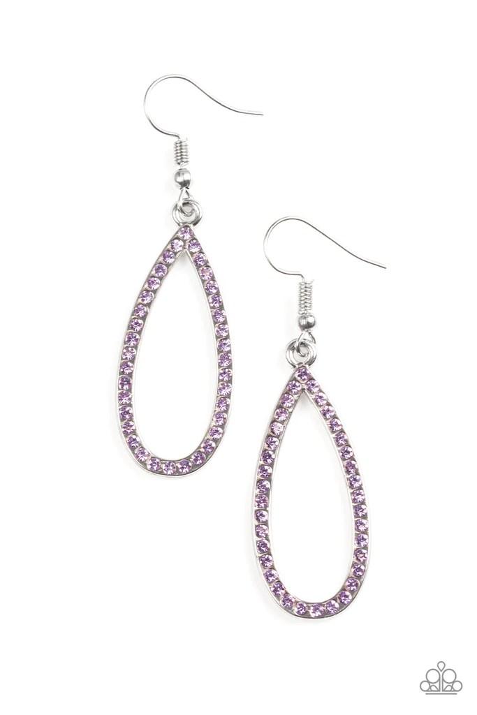 Paparazzi Quot Twilight Shimmer Quot Purple Rhinestone Silver