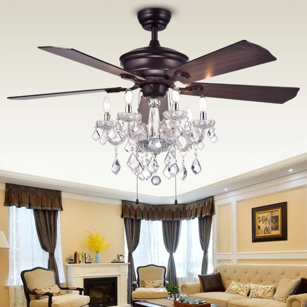 crystal chandelier with fan # 4