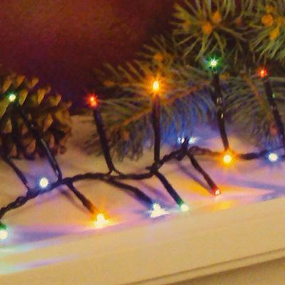 Christmas Lights Led Lights Sylvania 120 Led 8 Function