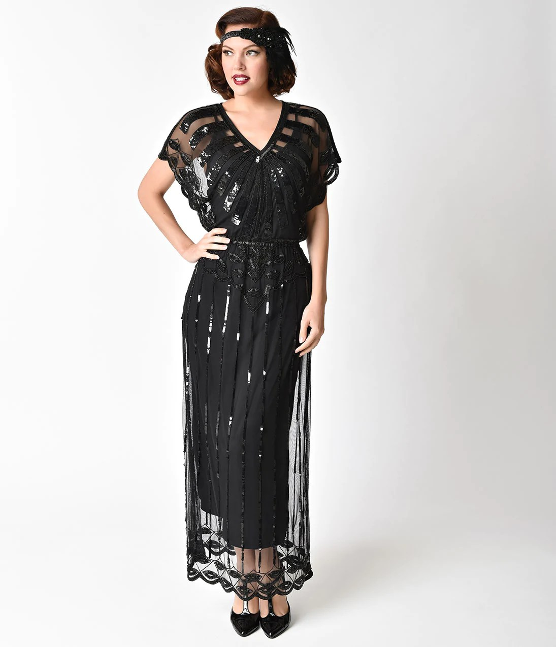 Great Gatsby Inspired Plus Size Prom Dresses