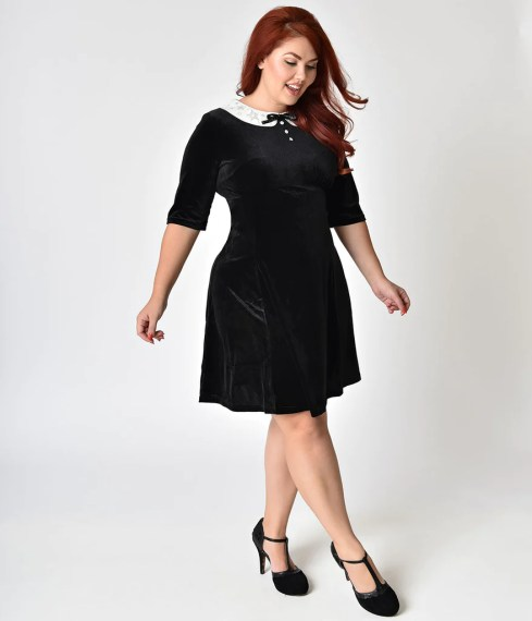 plus size black dress with white collar   Solid graphikworks co plus size black dress with white collar