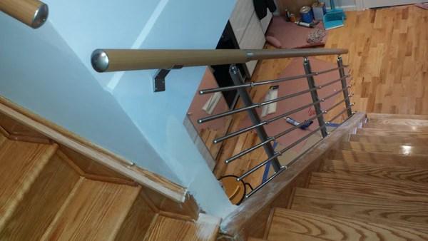 Get The Modern Waterproof Aluminium Stair Railing On Wall   Modern Stair Handrail Wall Mounted