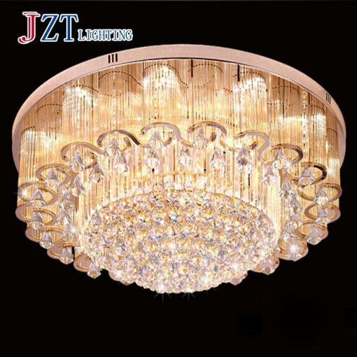 T 2016 NEW Luxury Large Crystal Ceiling Lights With LED Chips     T 2016 NEW Luxury Large Crystal Ceiling Lights With LED Chips Circular  Flower Lamps For Foyer