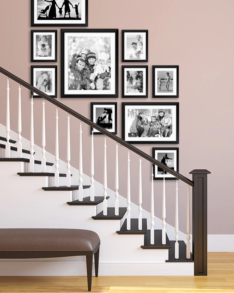 Staircase Wall Art Ideas For Arranging Pictures In Your Stairway   Stair Wall Colour Design   Wood Wall   Before And After   Room Wall   Hall Colour Combination   Family