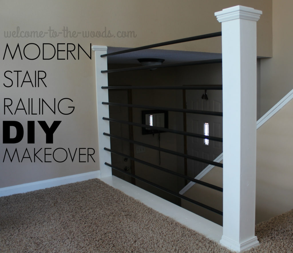 Stair Railing Diy Makeover | Diy Modern Stair Railing | Wall Mount | Cable | Model Modern Staircase | Different Style | Contemporary