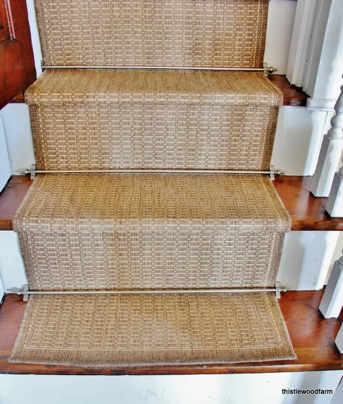 Diy Indoor Outdoor Stair Runner Thistlewood Farm   Rug Runners For Stairs   Narrow   Landing   Victorian   Traditional   Persian