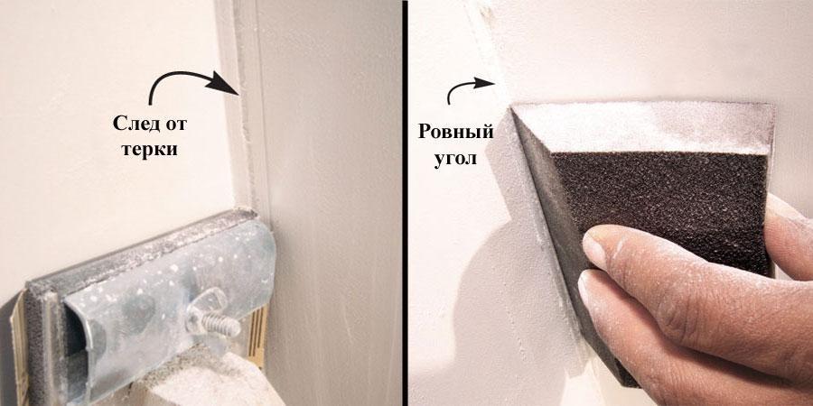Cara mengasah sudut dinding - kami bekerja alat yang tepat