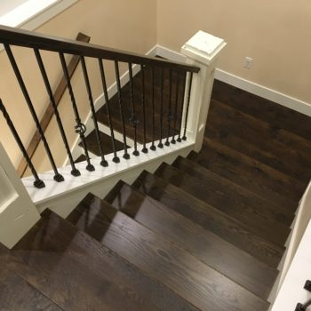 Our Gallery Recent Hardwood Flooring Projects Classic Flooring Llc | Oak Stairs With White Risers | Natural | Red Oak | Character | Hardwood | Dark Walnut Staircase