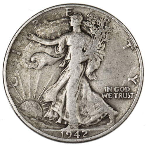 1947 Walking Liberty Half Dollar Gold