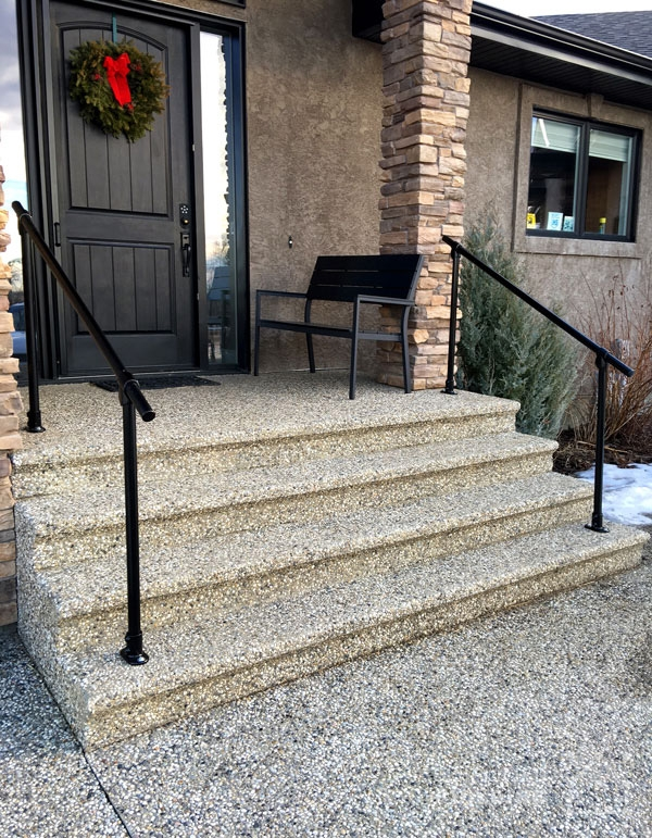 20 Beautiful Railings Built With Pipe Simplified Building   Outside Handrails For Stairs   Porch   Wrought Iron   Stainless Steel   Backyard   Wooden