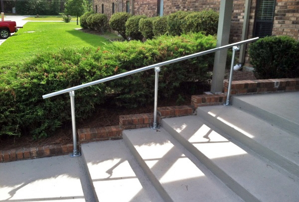 15 Customer Railing Examples For Concrete Steps Simplified Building   Metal Handrails For Concrete Steps   Wrought Iron   Easy   Patio   Safety   Different Style