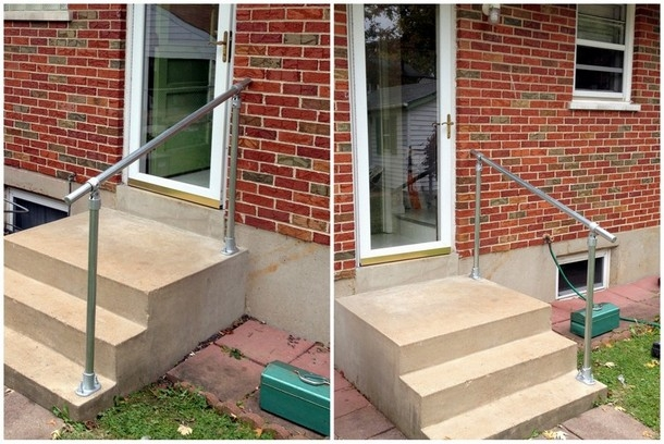 Easy To Install Outdoor Stair Railing Simplified Building | Outside Stair Railing Installation | Rail | Simple | Staircase | Back Porch | Sunroom