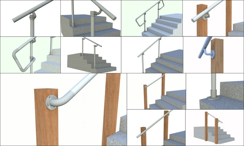 Simple Rail Simplified Handrail For Stairs Simplified Building   Pipe Handrails For Steps   Simple Pipe   Kee Klamp   Contemporary Wood   House   Stair Outdoor Decatur