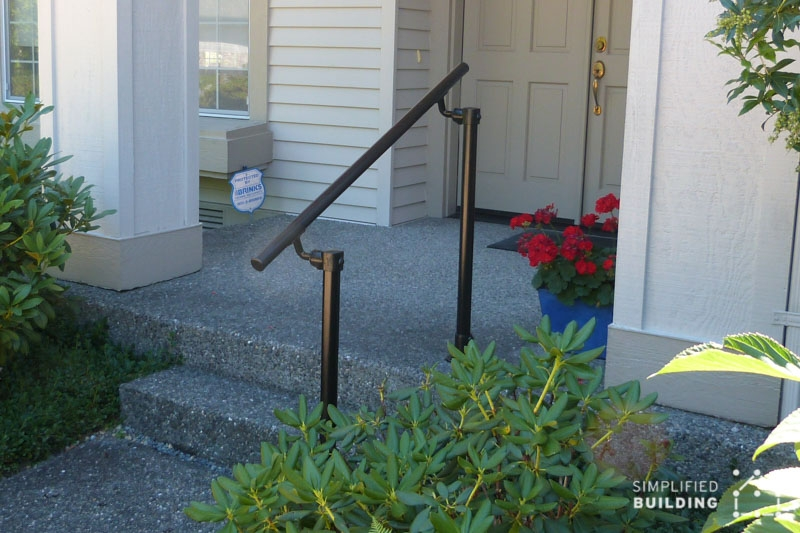 14 Exterior Handrail Ideas Simplified Building | Metal Railing For Steps Outside | Front Porch | Deck Stair | Aluminum | Deck Railing | Staircase
